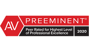 Martindale-Hubbell Preeminent Peer Rating 2020